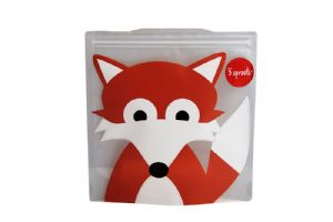 3 Sprouts Reusable Sandwich Bag - Fox
